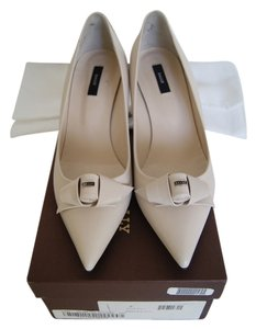 Bally Leather Putty Pumps