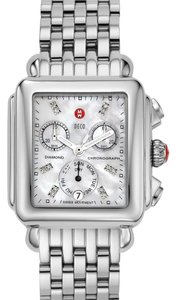 Michele Michele Deco XL Diamond Chronograph Watch on 7 Link Bracelet MW06Z00A0046