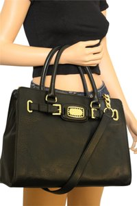 Michael Kors Gold Tote in Black/Rhinestones/Gold Hardware