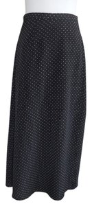 DEBENHAMS Skirt Dark Blue/ Black with White dots