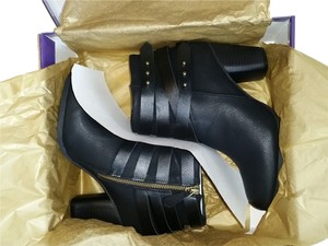 Madden Girl Ankle Studded Strappy Straps Side Zip New In Box Nwt Never Worn Black Boots