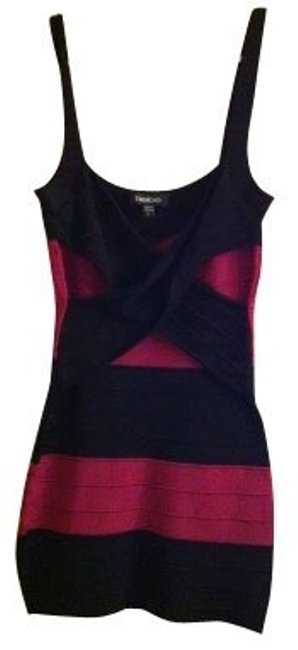 Preload https://item4.tradesy.com/images/bebe-fuchsia-and-black-mini-night-out-dress-size-0-xs-703-0-0.jpg?width=400&height=650