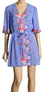 Betsey Johnson Betsey Johnson Floral Chiffon Robe
