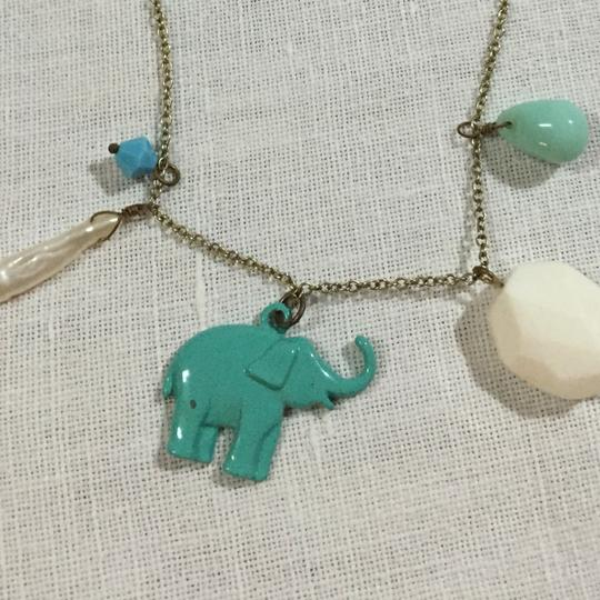 Other Blue Elephant Charm Necklace