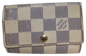 Louis Vuitton Louis Vuitton #3058 Damier azur 6 Ring Key Holder Trifold with dust bag