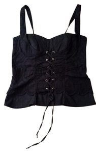 XOXO Ribbon Top Black