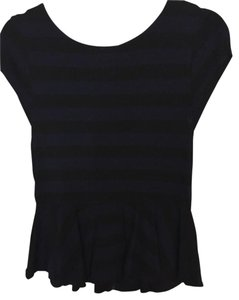 Alice + Olivia Pelum Top black and navy