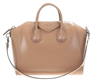 Givenchy Antigona Leather Satchel in Dark Beige
