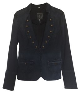 7 For All Mankind Blue denim Blazer