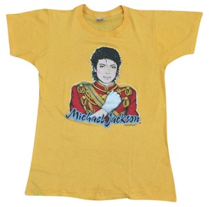 Screen Stars Michael Jackson Rare Rare Vintage Vintage Finds King Of Pop Trendy T Shirt Yellow