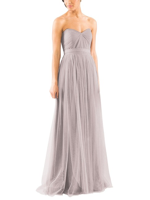 Item - Mink Grey Tulle Annebella Casual Bridesmaid/Mob Dress Size 2 (XS)