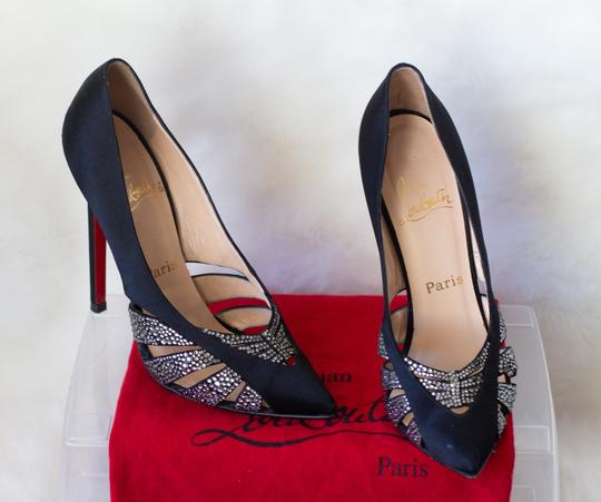 Preload https://img-static.tradesy.com/item/703216/christian-louboutin-black-salopette-satincrystal-pumps-size-eu-375-approx-us-75-regular-m-b-0-4-540-540.jpg