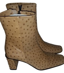 Nickels Ostrich Print Boots