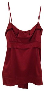 BCBGMAXAZRIA Top Dark Red