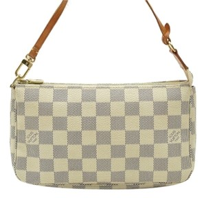 Louis Vuitton Louis Vuitton Damier white azur pochette, purse, handbag wristlets bag like Eva clutch