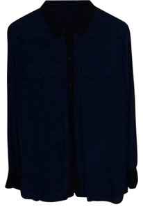 Moda International Button Down Shirt Blue/Black