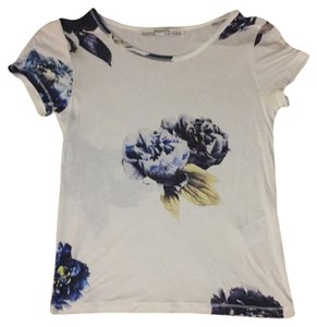 AllSaints Floral High-waitsted Jeans T Shirt Cream