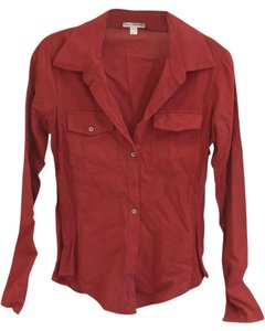 James Perse Button Down Shirt Maroon