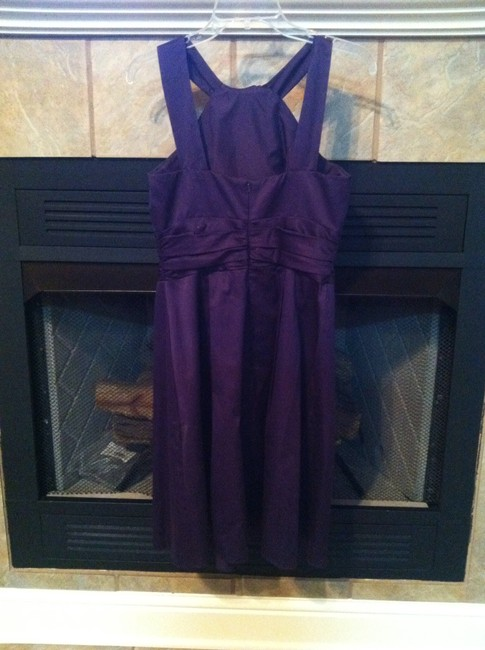 Item - Plum Cotton 83690 Modern Bridesmaid/Mob Dress Size 8 (M)