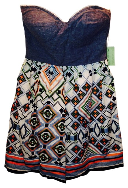 Johnny Martin short dress Denim/printed Bustier Patterned Summer on Tradesy