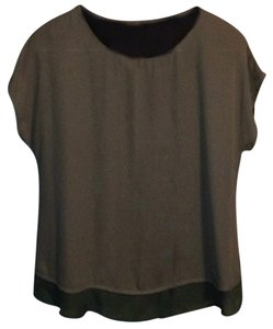 Bobeau Top Tan/Black/Green