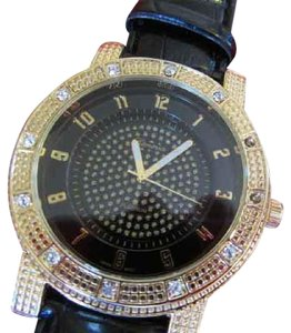 Geneva Stainless Steel crystal gold large face WATCH. big NEW!
