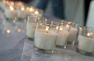 White Lot Of 72 Glass Votive/Candle
