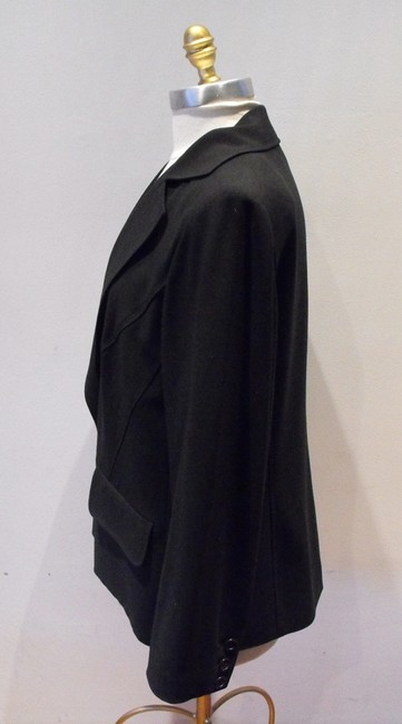Sonia Rykiel Dress Coat Designer Black Blazer