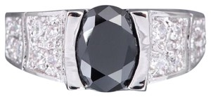 Unknown B&W Sapphire RIght Hand Ring Free Shipping