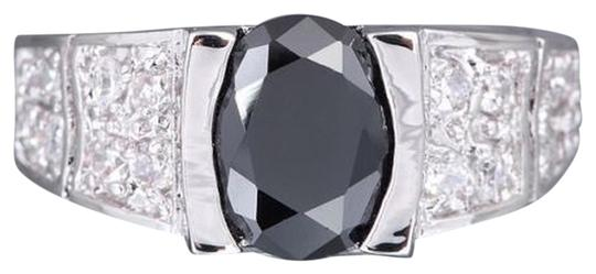 Unknown BOGO Free B&W Sapphire RIght Hand Ring Free Shipping