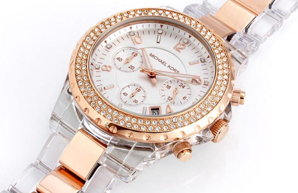 Michael Kors Rose Gold Clear Mk5323 Madison Watch 44% off retail