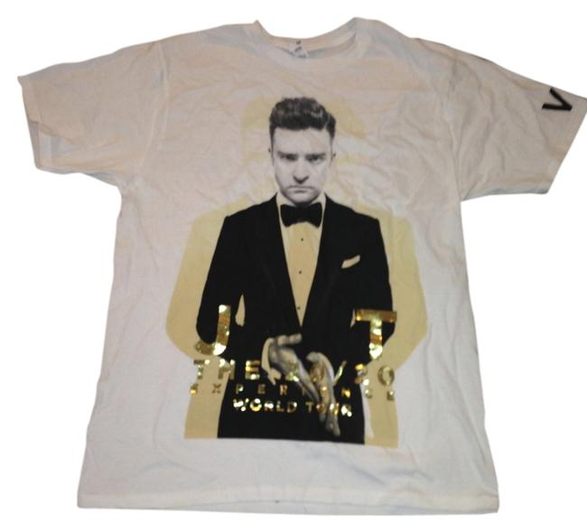Justin Timberlake 20/20 Experience World Tour Fan T Shirt White