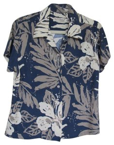 Tori Richard Wear Aloha Shirt Top Tropical Print