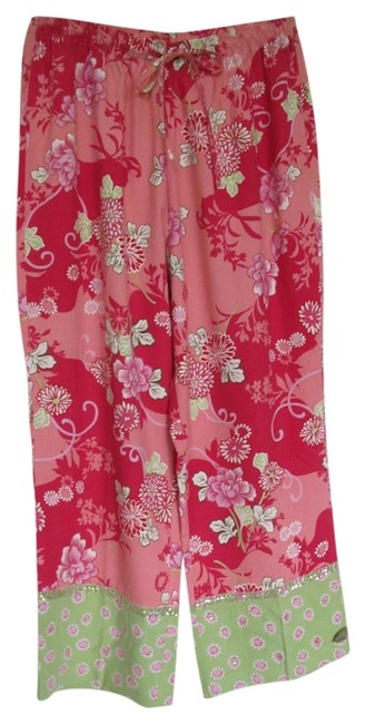 Item - Coral and Pink Multi Resort Wear Capris Size 12 (L, 32, 33)