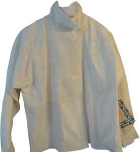 Sharon Smith Vintage Embroidered Top White