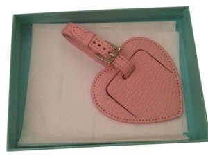 Tiffany & Co. Tiffany & Co Leather Heart Luggage Tag In Pink