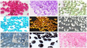 Puprle - 2000x 4.5mm 1/3 Ct Acrylic Diamond Scatters Confetti