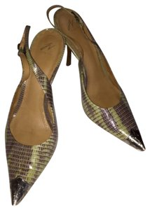 J Vincent Lime, brown Pumps