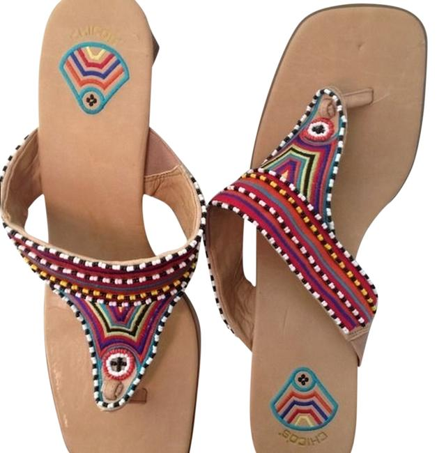 Item - Multicolor Beaded Perfect and Cute Sandals Size US 11
