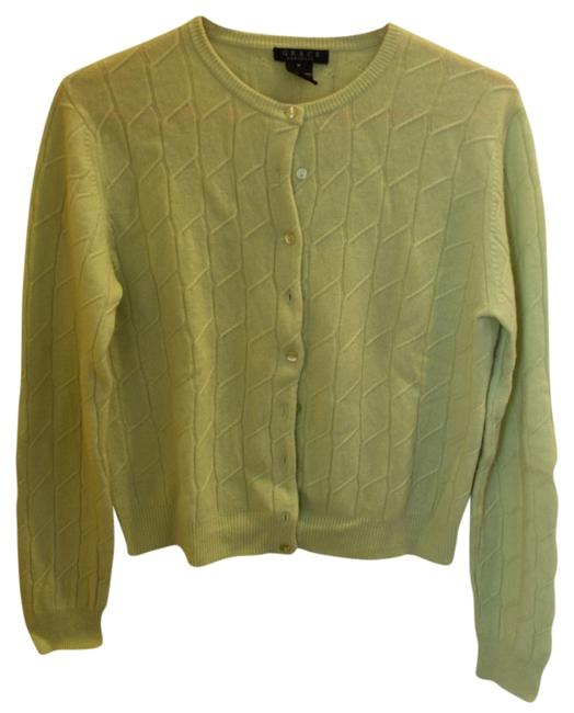 Item - Lime Green Cashmere Cardigan Size 8 (M)