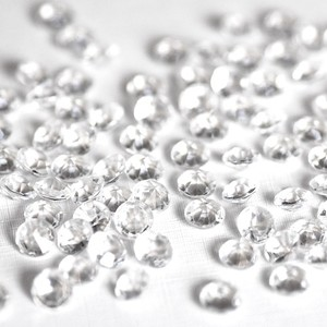 Clear - 1000x 10mm 4 Ct Acrylic Diamond Scatter Confetti