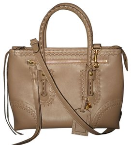 Alexander McQueen Folk Whipstitched Tote in Taupe