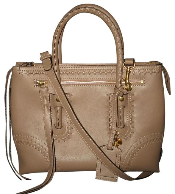Alexander McQueen Folk Whipstitched Taupe Leather Tote Alexander McQueen Folk Whipstitched Taupe Leather Tote Image 1