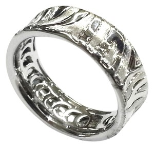 Roberto Coin Roberto Coin 18 Karat White Gold Ring With Engraved Zebra pattern