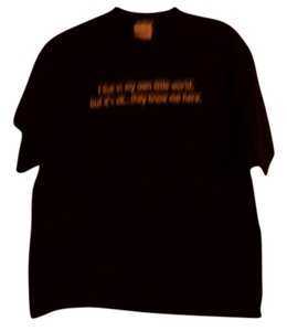 M&O Knits T Shirt Black with White Writing
