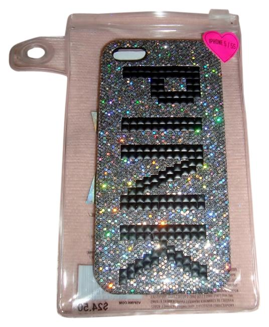 Item - Black & Silver Bling Studded Iphone 5/5s Case Tech Accessory