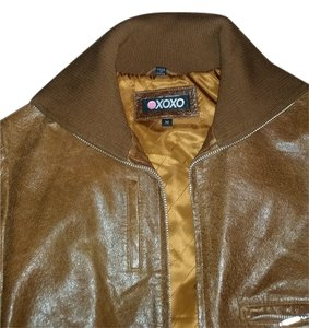 XOXO cognac Leather Jacket