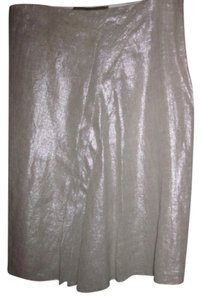 John Galliano Silk Pleats Skirt silver