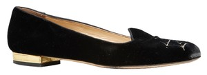 Charlotte Olympia Spider Web Black Flats