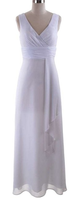 Preload https://item2.tradesy.com/images/white-chiffon-draping-v-neck-long-cocktail-dress-size-6-s-703811-0-1.jpg?width=400&height=650